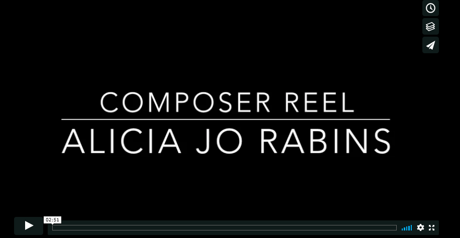 """composer reel, Alicia Jo Rabins"" - video title"